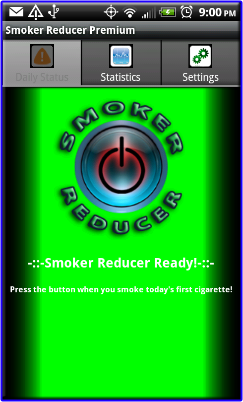 Smoker Reducer Daily Status Tab Not Running